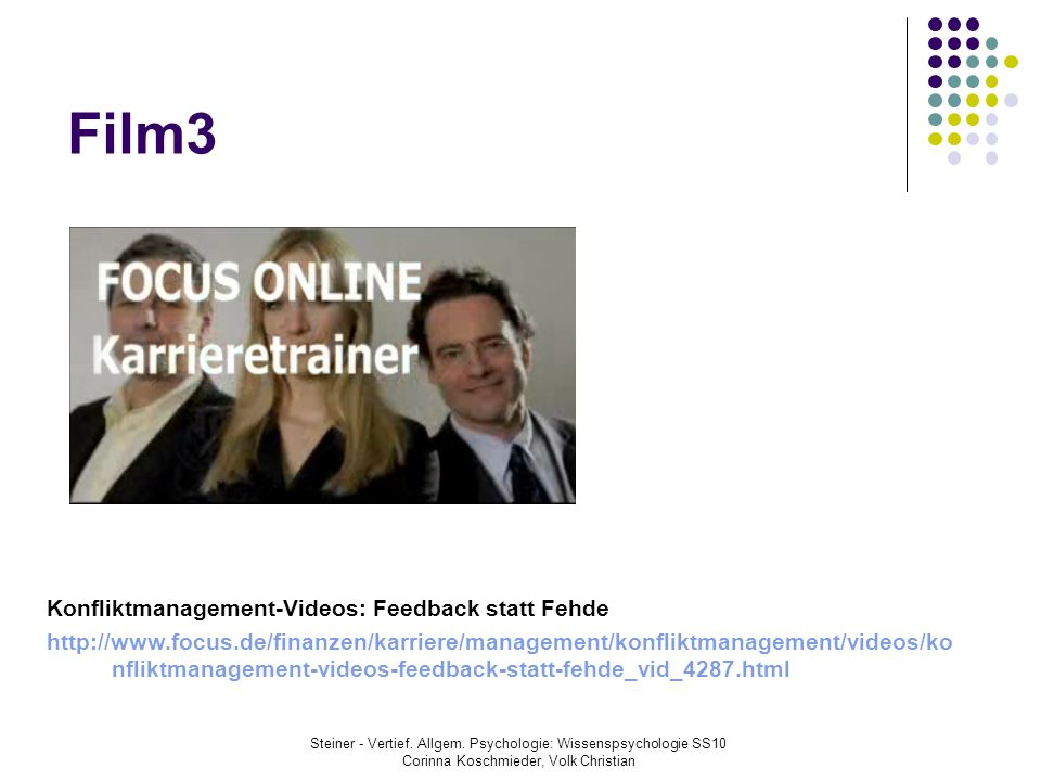 Film3 Konfliktmanagement-Videos: Feedback statt Fehde