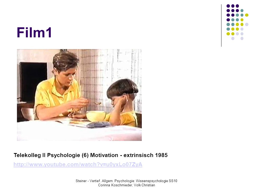 Film1 Telekolleg II Psychologie (6) Motivation - extrinsisch 1985