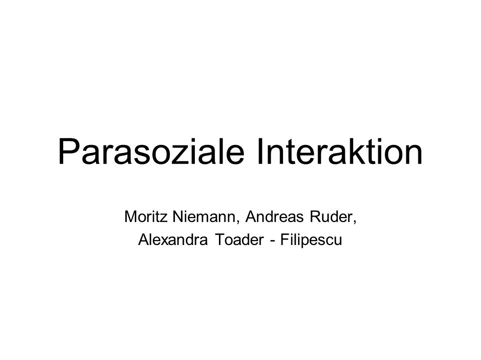 Parasoziale Interaktion