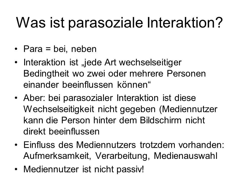 Was ist parasoziale Interaktion