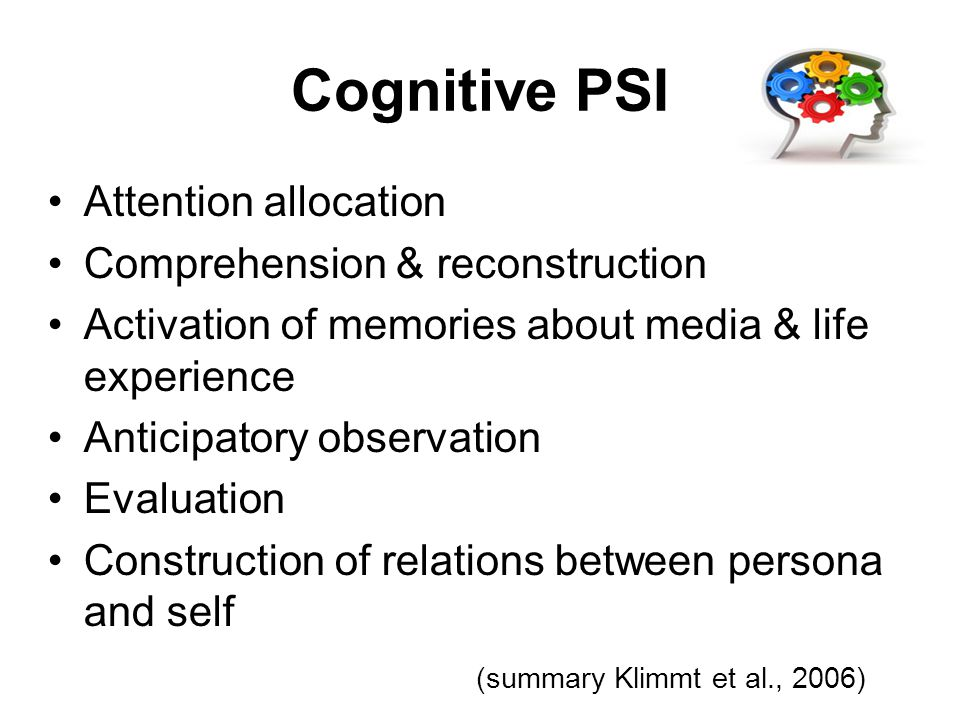 Cognitive PSI Attention allocation Comprehension & reconstruction