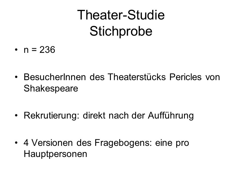 Theater-Studie Stichprobe