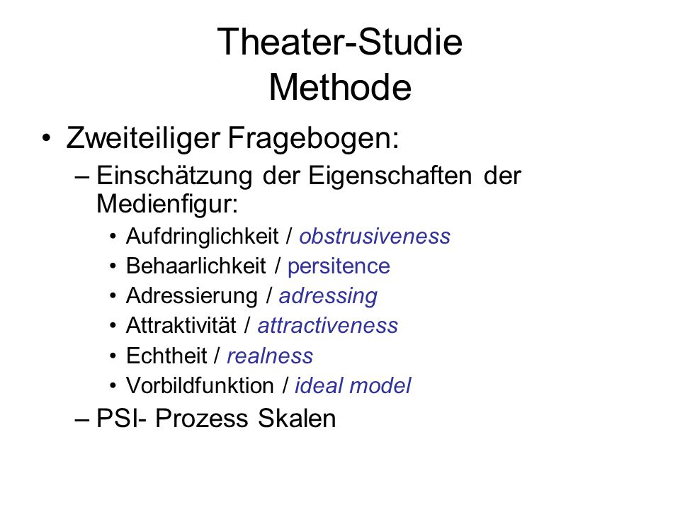 Theater-Studie Methode