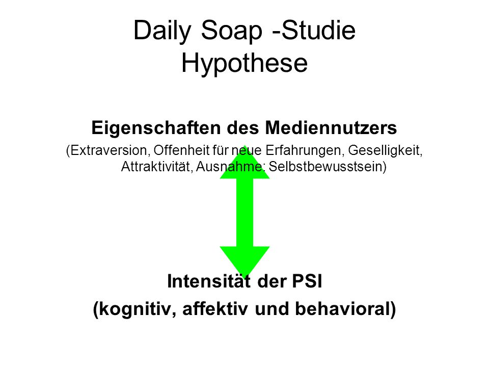 Daily Soap -Studie Hypothese