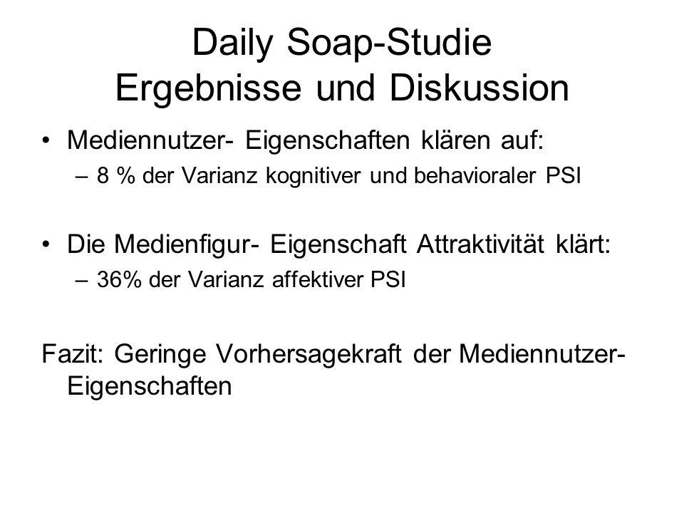 Daily Soap-Studie Ergebnisse und Diskussion