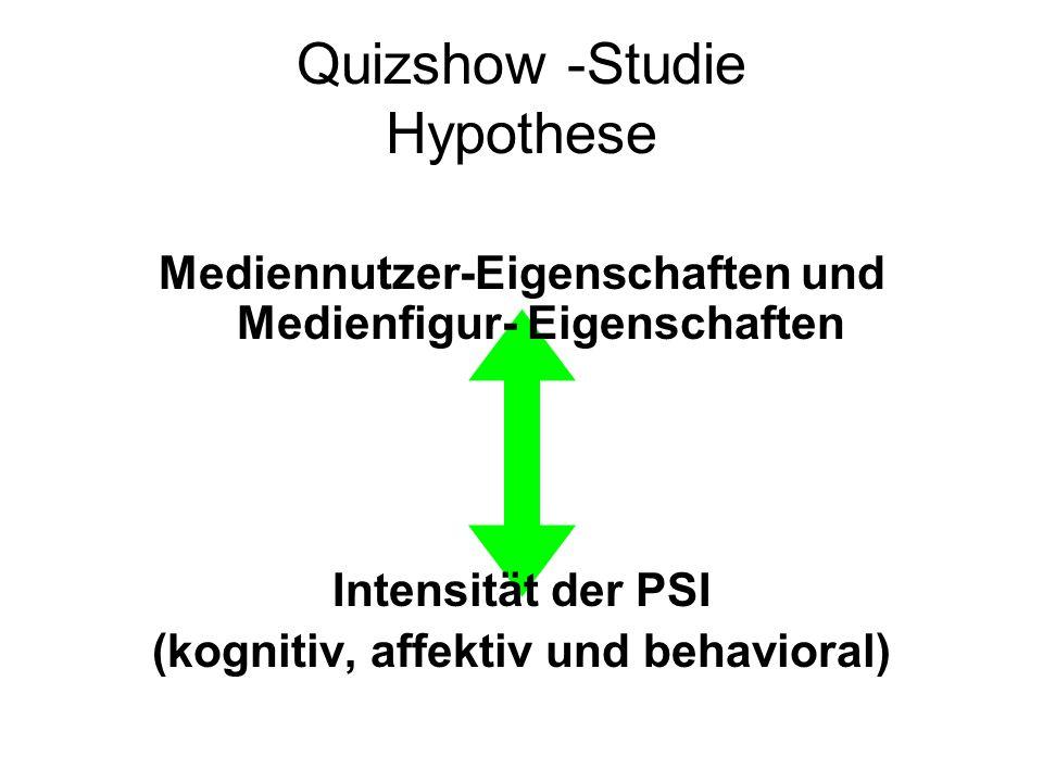Quizshow -Studie Hypothese