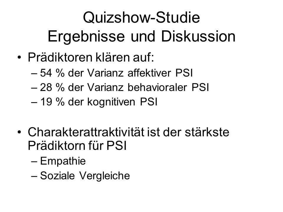 Quizshow-Studie Ergebnisse und Diskussion