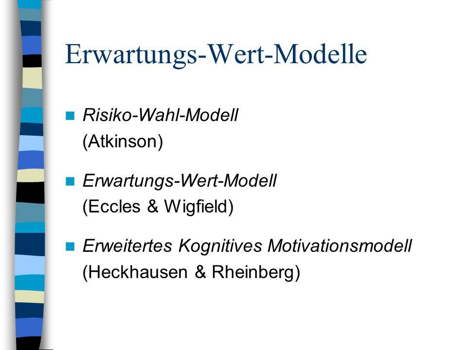 Erwartungs-Wert-Modelle