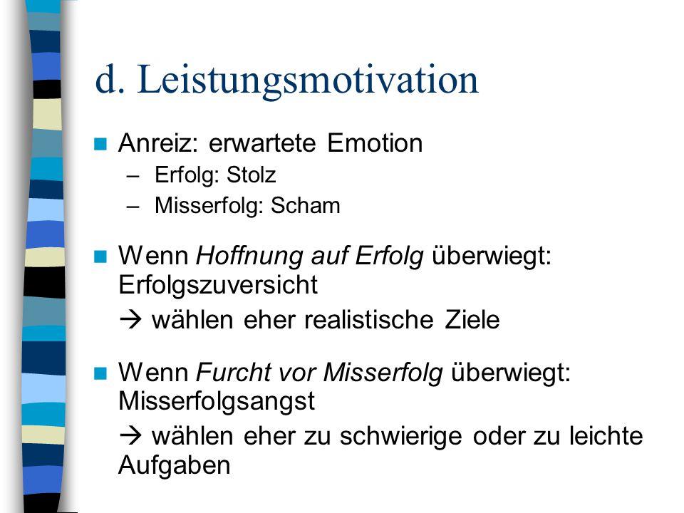 d. Leistungsmotivation