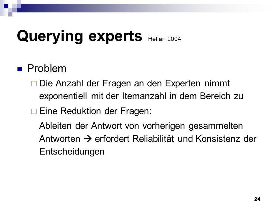 Querying experts Heller, 2004.