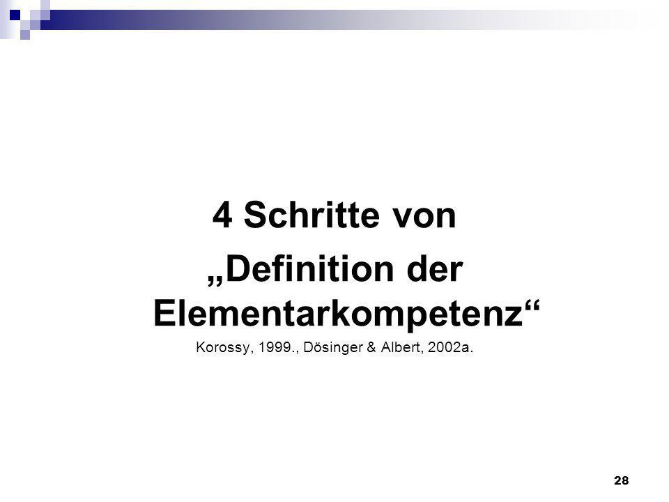 """Definition der Elementarkompetenz"
