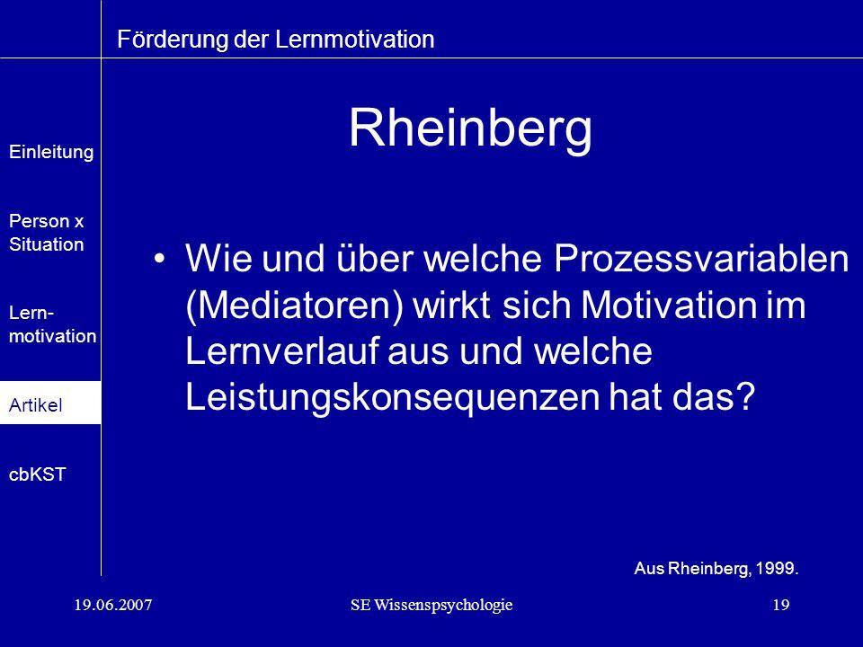 SE Wissenspsychologie