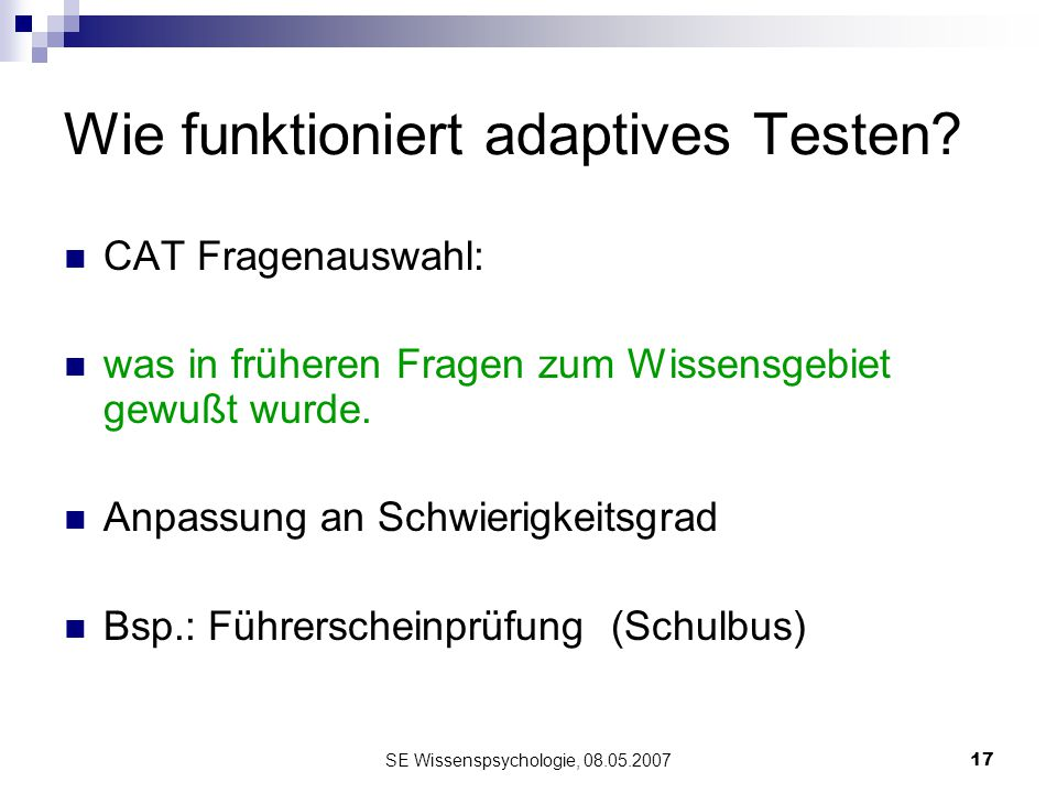 Wie funktioniert adaptives Testen