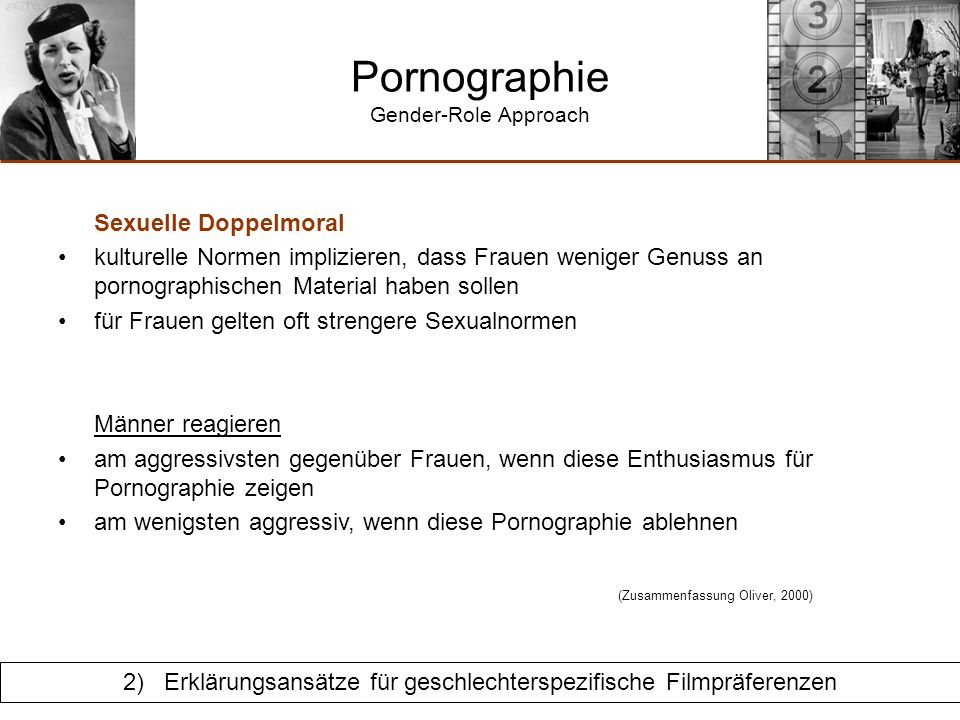 Pornographie Gender-Role Approach