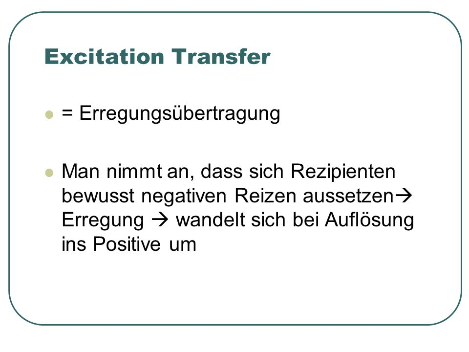 Excitation Transfer = Erregungsübertragung