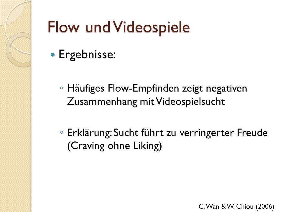 Flow und Videospiele Ergebnisse: