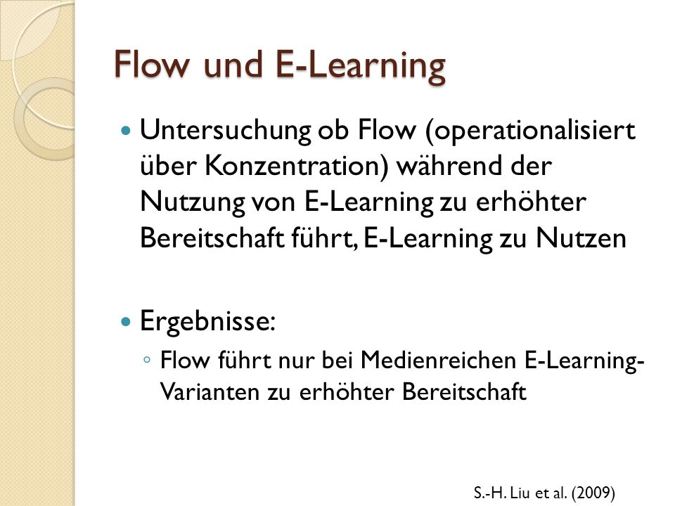 Flow und E-Learning