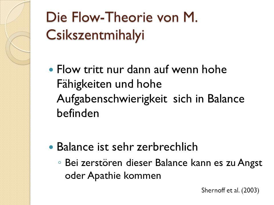 Die Flow-Theorie von M. Csikszentmihalyi