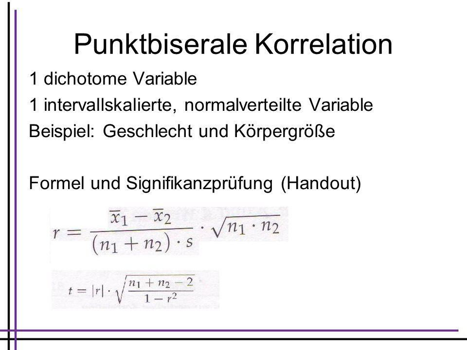 Punktbiserale Korrelation