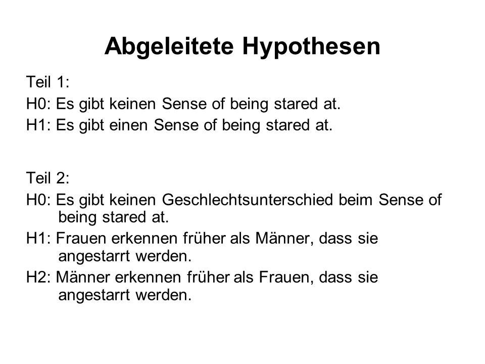 Abgeleitete Hypothesen