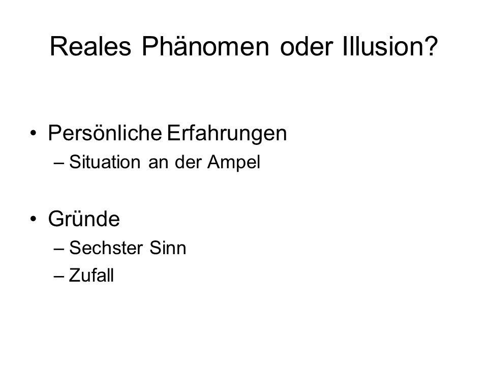 Reales Phänomen oder Illusion