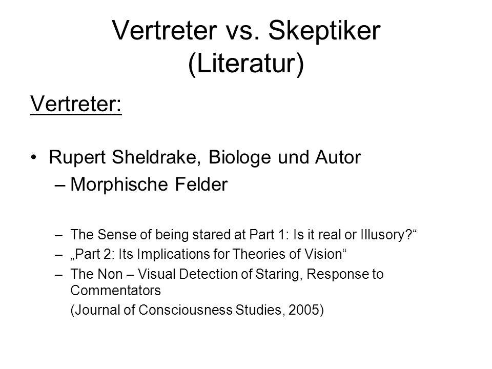 Vertreter vs. Skeptiker (Literatur)