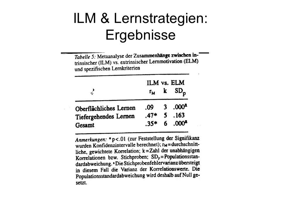 ILM & Lernstrategien: Ergebnisse