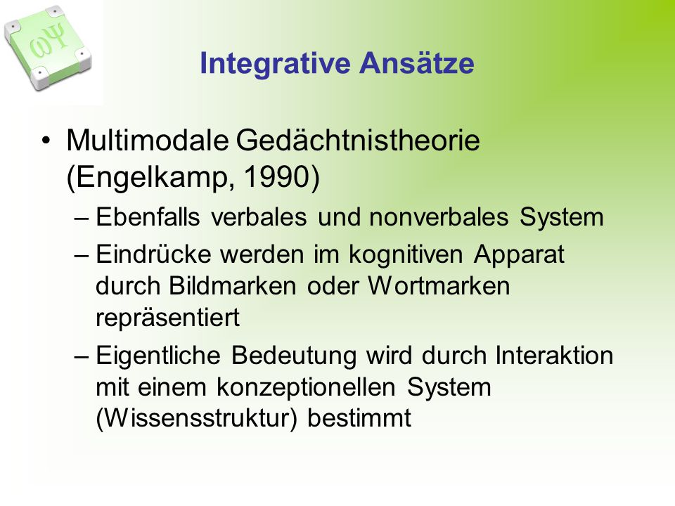 Multimodale Gedächtnistheorie (Engelkamp, 1990)