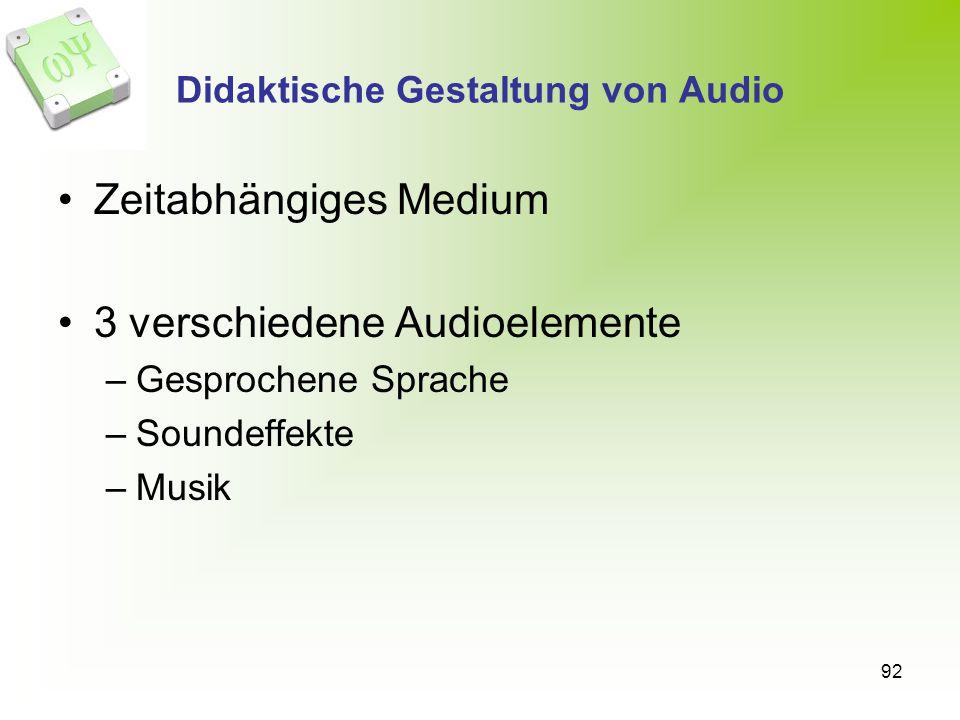 Didaktische Gestaltung von Audio