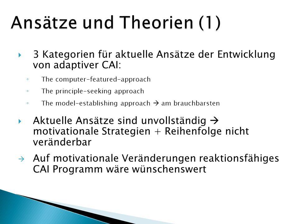 Ansätze und Theorien (1)