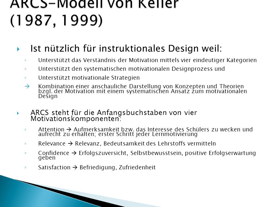 ARCS-Modell von Keller (1987, 1999)