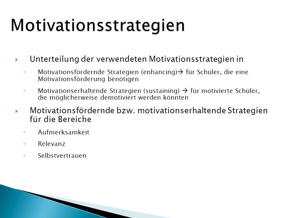 Motivationsstrategien