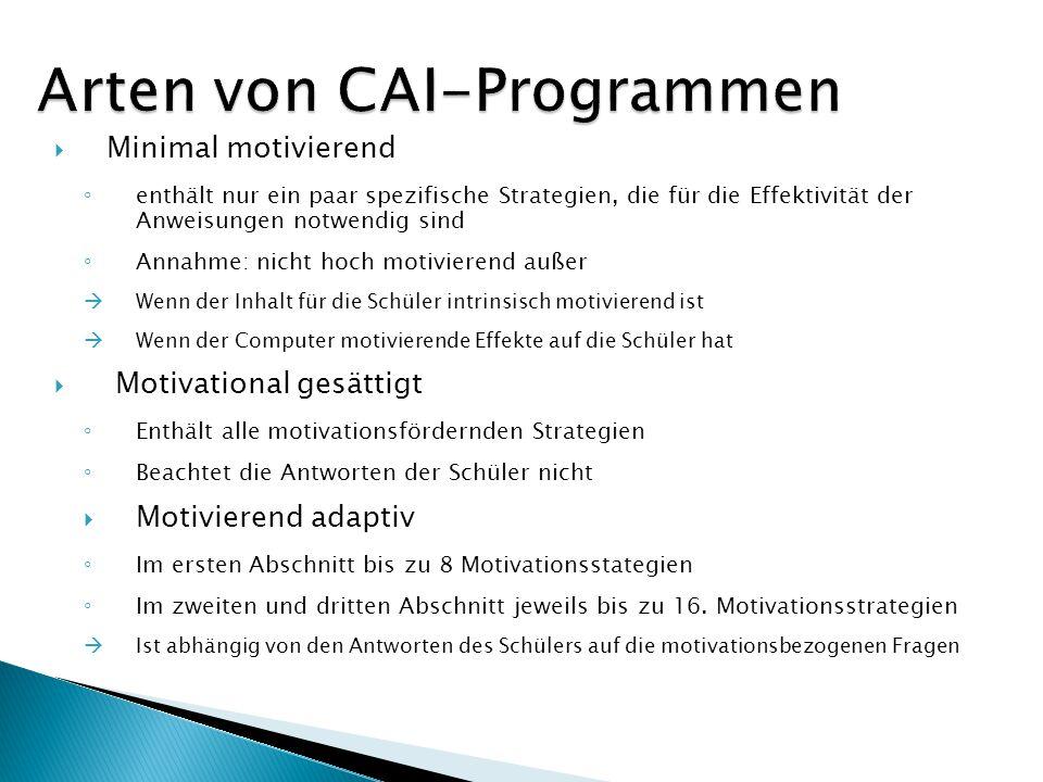 Arten von CAI-Programmen
