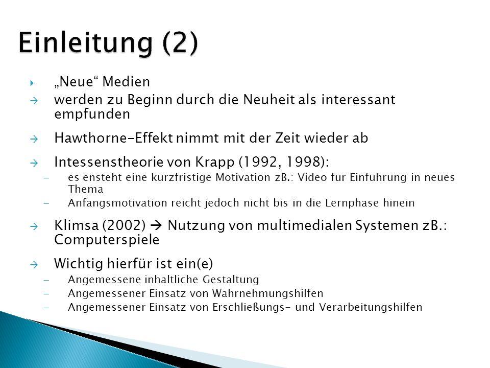 """Einleitung (2) """"Neue Medien"""