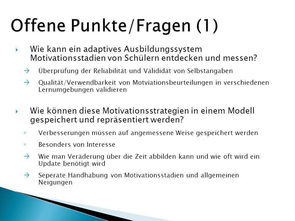 Offene Punkte/Fragen (1)