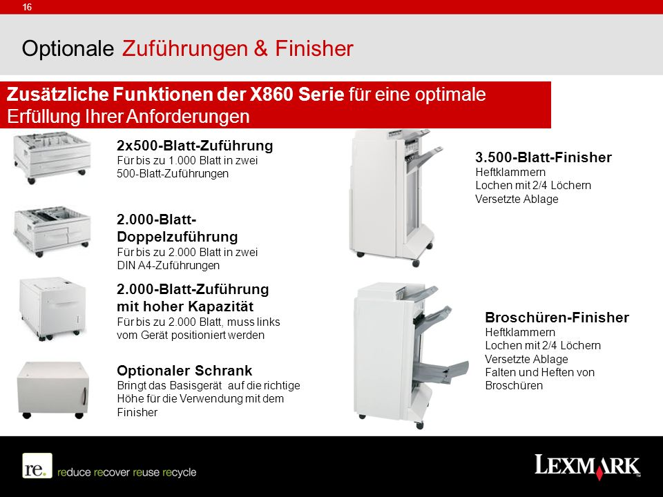 Optionale Zuführungen & Finisher