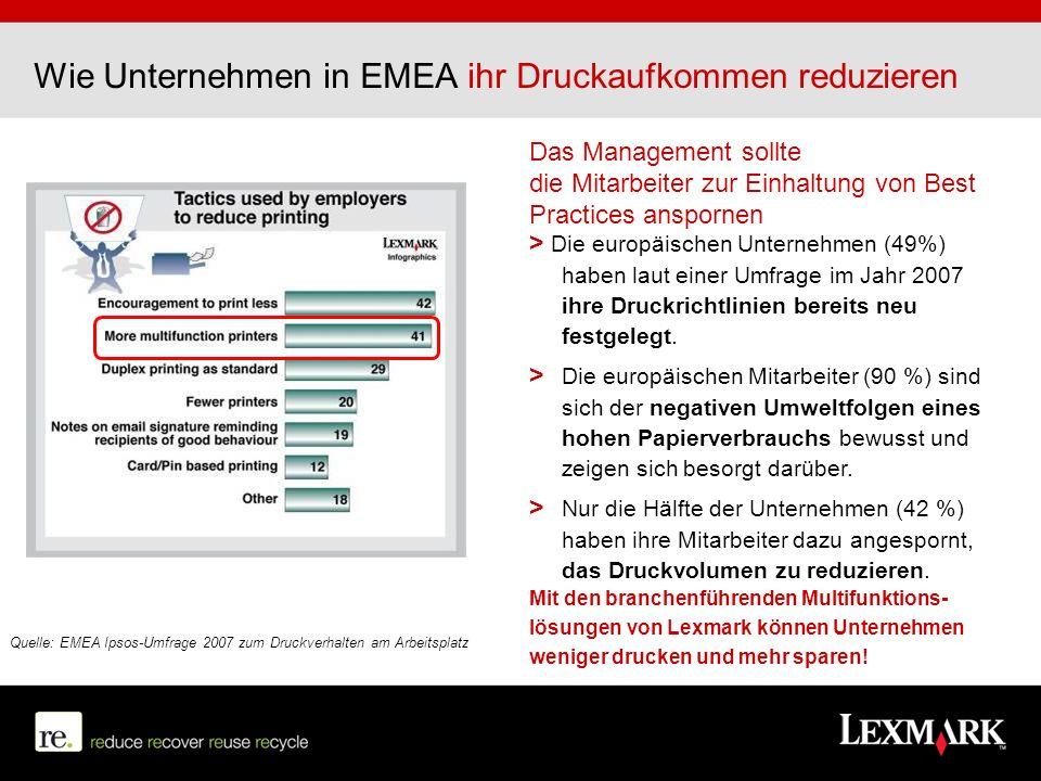 Wie Unternehmen in EMEA ihr Druckaufkommen reduzieren