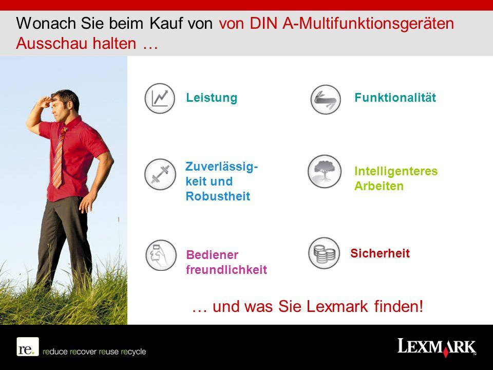 … und was Sie Lexmark finden!