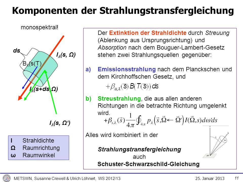 Komponenten der Strahlungstransfergleichung