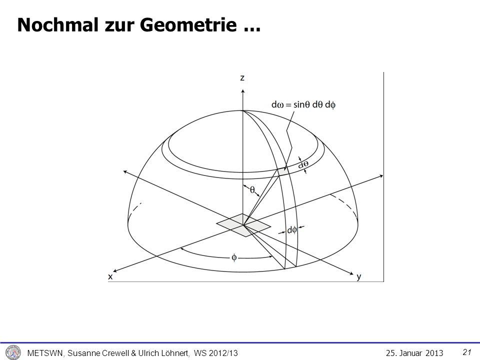Nochmal zur Geometrie ... Für St