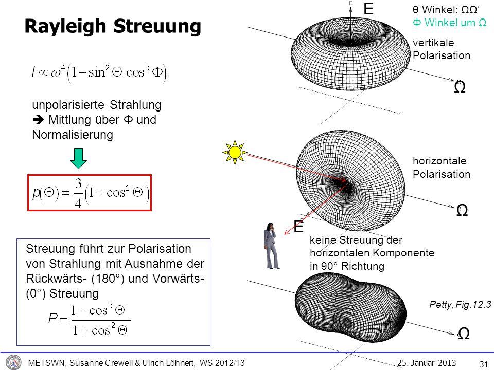 Rayleigh Streuung E Ω Ω E Ω