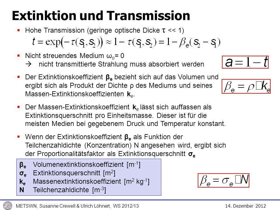 Extinktion und Transmission