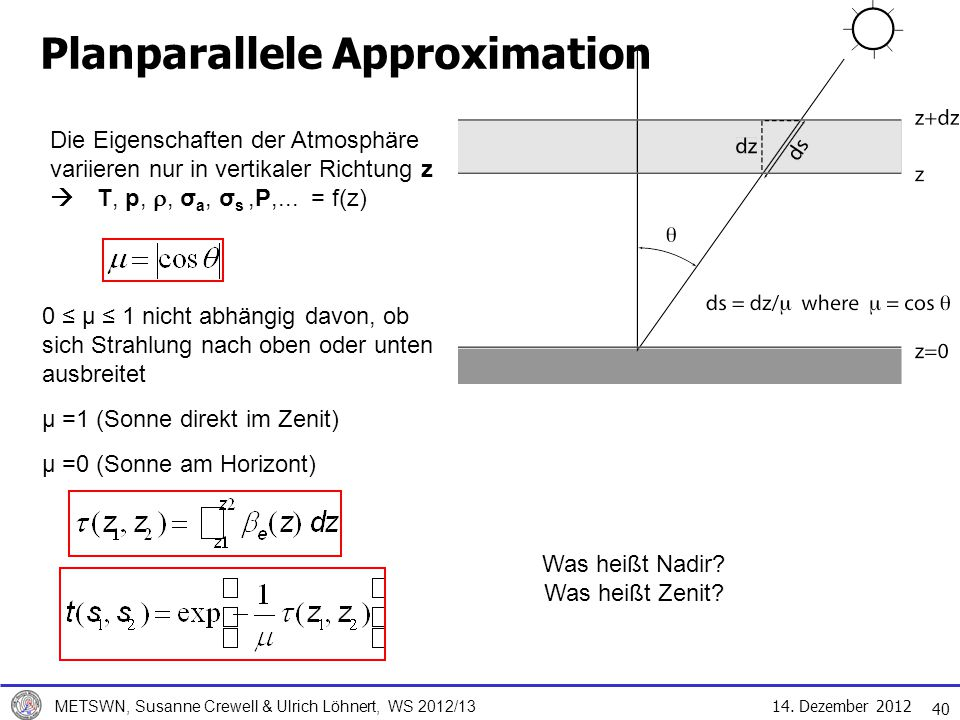 Planparallele Approximation
