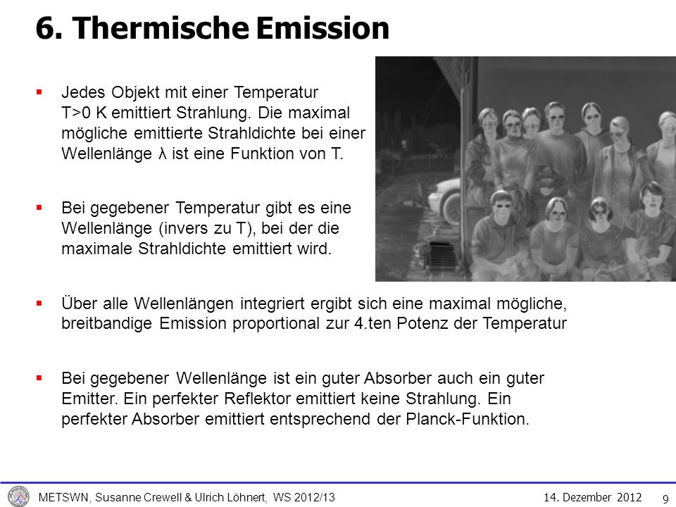 6. Thermische Emission