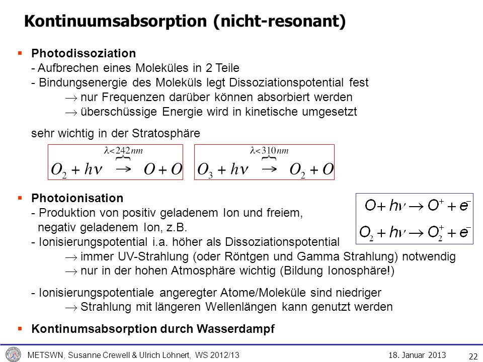 Kontinuumsabsorption (nicht-resonant)