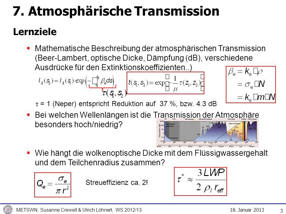 7. Atmosphärische Transmission