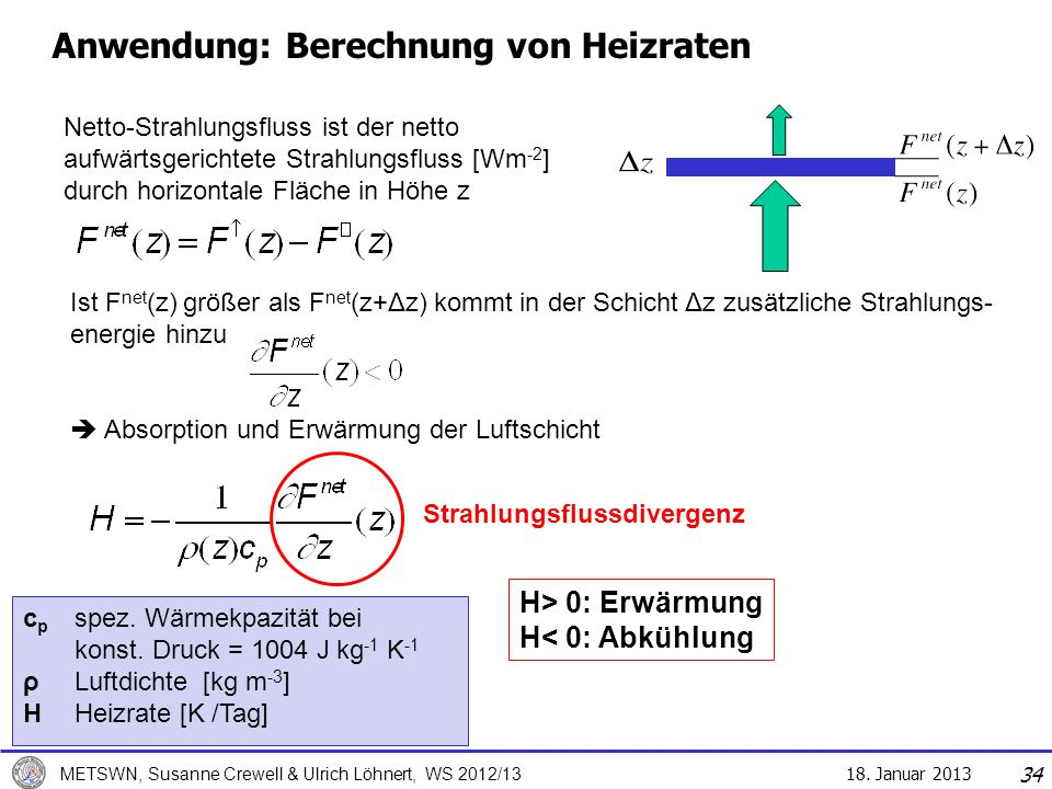 Anwendung: Berechnung von Heizraten