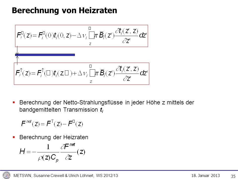 Berechnung von Heizraten