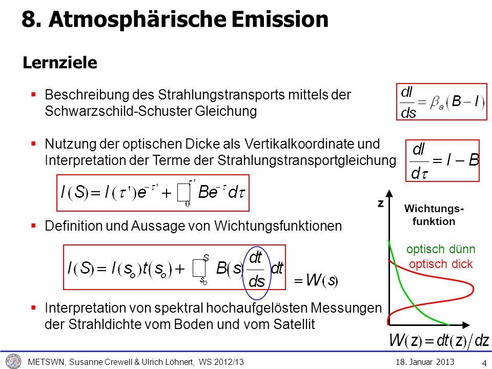 8. Atmosphärische Emission