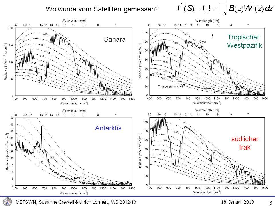 Wo wurde vom Satelliten gemessen